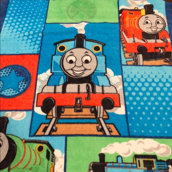 Remarkable Thomas Train Plush Throw Soft And Comfy Download Free Architecture Designs Scobabritishbridgeorg